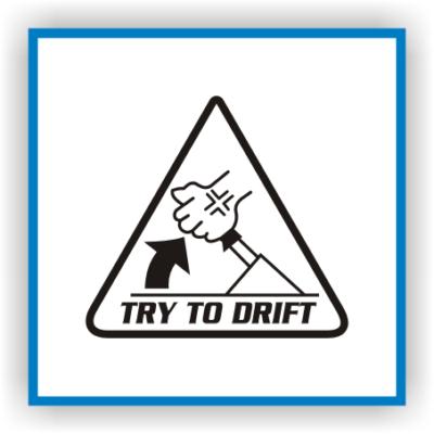 Try to Drift Sticker